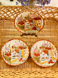 Set of 3 Hand Painted Plates