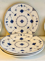 Load image into Gallery viewer, Set of 4 Johnson Bros Blue Denmark Dinner Plates