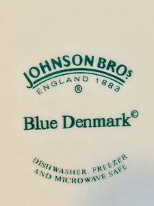 Set of 4 Johnson Bros Blue Denmark Dinner Plates