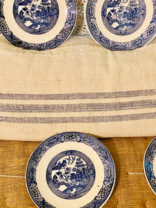 Instant Blue Willow Plate Wall