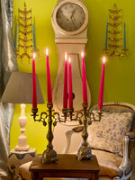 Load image into Gallery viewer, Stunning Pair of Brass Candelabras