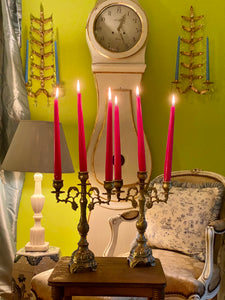 Stunning Pair of Brass Candelabras