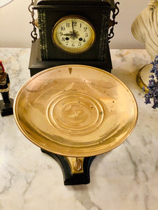 Brass & Wood Pedestal