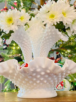 Load image into Gallery viewer, Vintage Hobnail Milk Glass Epergne