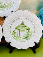 Load image into Gallery viewer, Set of 3 Italian Hand Painted Pagoda Plates