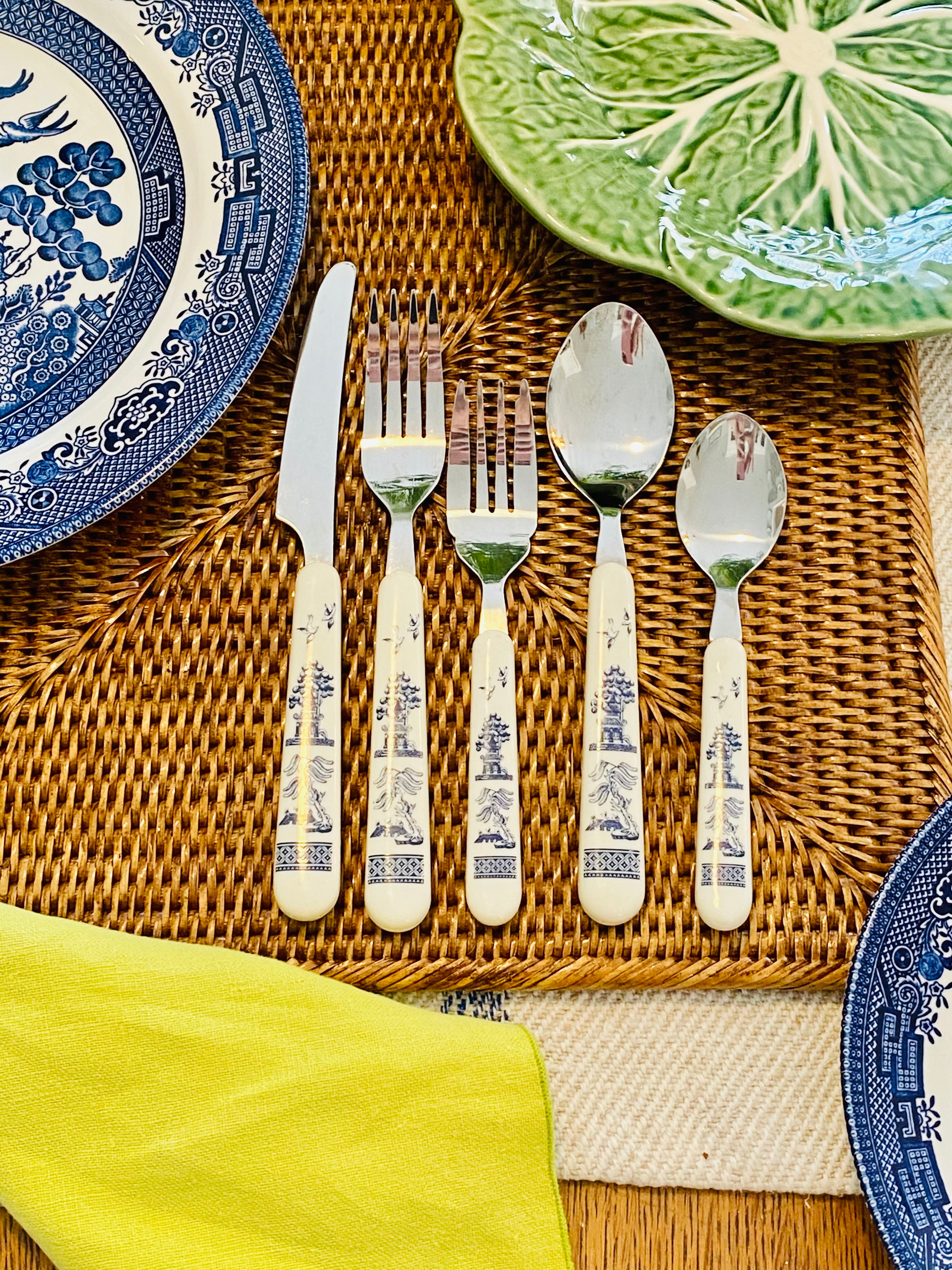 Very Rare Blue Willow Flatware