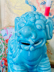 Turquoise Large & Fantastic Foo Dogs