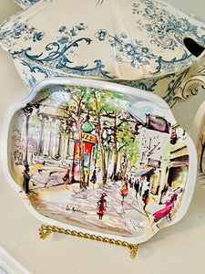 Set of Elite Trays worn Parisian Scenes
