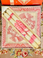 Load image into Gallery viewer, Vintage Old Willow Candle& Napkin Set