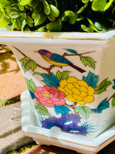 Vintage Chinoserie Planter