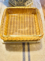 Load image into Gallery viewer, Vintage 8x8 Pyrex Dish with Wicker Holder