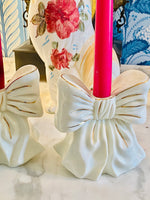 Load image into Gallery viewer, The MOST Darling Bow Candle Holders