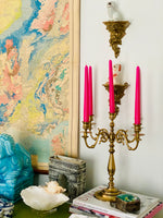 Load image into Gallery viewer, Stunning 5 Arm Baldwin Brass Candelabra