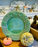 Load image into Gallery viewer, Bordallo Oak Leaf Green Chop Plate