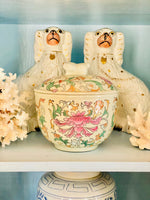 Load image into Gallery viewer, Chinoiserie Chic Jar with Foo Dog Finial