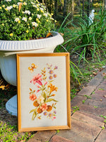 Load image into Gallery viewer, Lovely French Blue & Floral Needlepoint