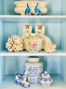 Chinoiserie Chic Jar with Foo Dog Finial