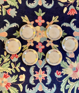 Set of 6 Silver Plated Swedish Coaster