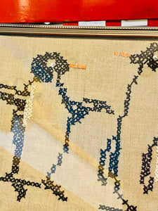 Vintage Penguin Cross Stitch circa 1974