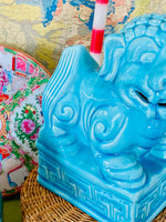 Load image into Gallery viewer, Turquoise Large & Fantastic Foo Dogs