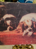 Load image into Gallery viewer, Cavalier King Charles Spaniel Vintage Painting Printed in Canvas