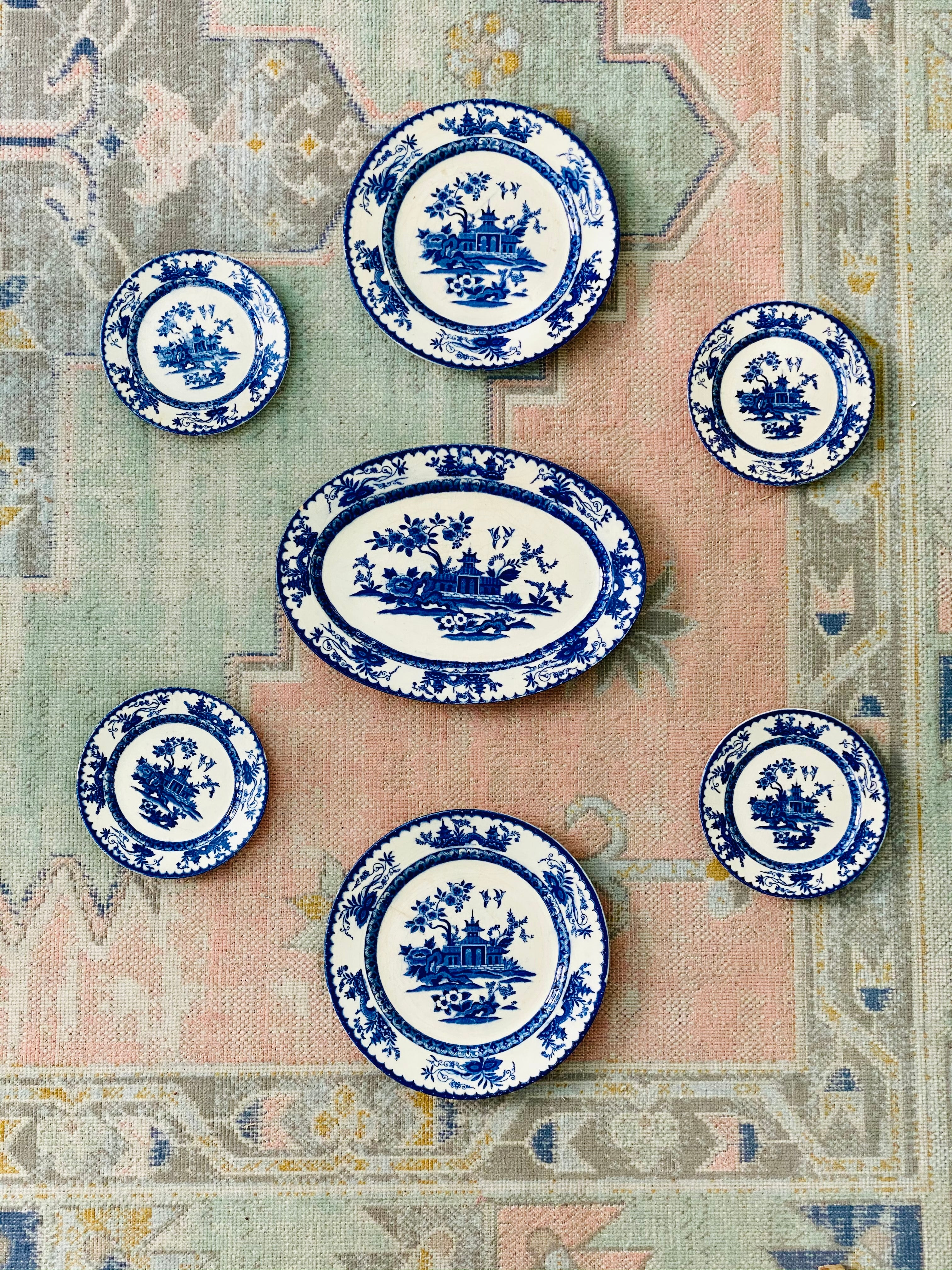 Absolutely Amazing RARE Vintage (possibly antique) Plate Wall