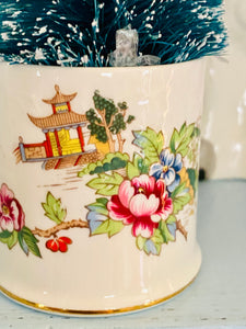 Crown Staffordshire Pagoda Pattern Toothpick Holder