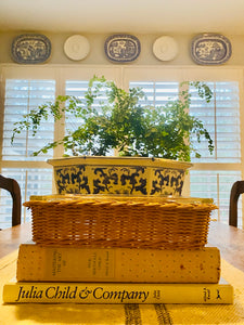 Vintage 8x8 Pyrex Dish with Wicker Holder