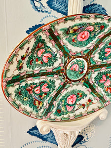Large Rose Medallion Platter