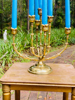 Load image into Gallery viewer, Stunning Solid Brass 7 Arm Candelabra