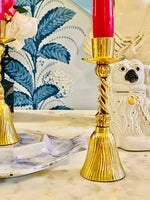 Load image into Gallery viewer, Fantastic Brass Tassel Candlesticks