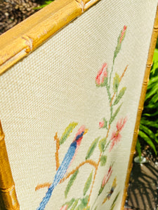 Chinoiserie Needlepoint Panel