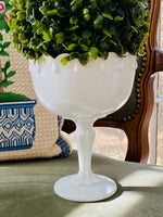 Load image into Gallery viewer, Milk Glass Pedestal Bowl