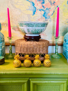 Set of 4 Adorable Pineapple Tea Light Holders