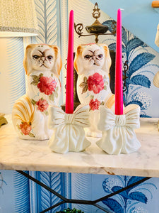 The MOST Darling Bow Candle Holders