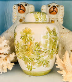 Load image into Gallery viewer, Green & White Ginger Jar