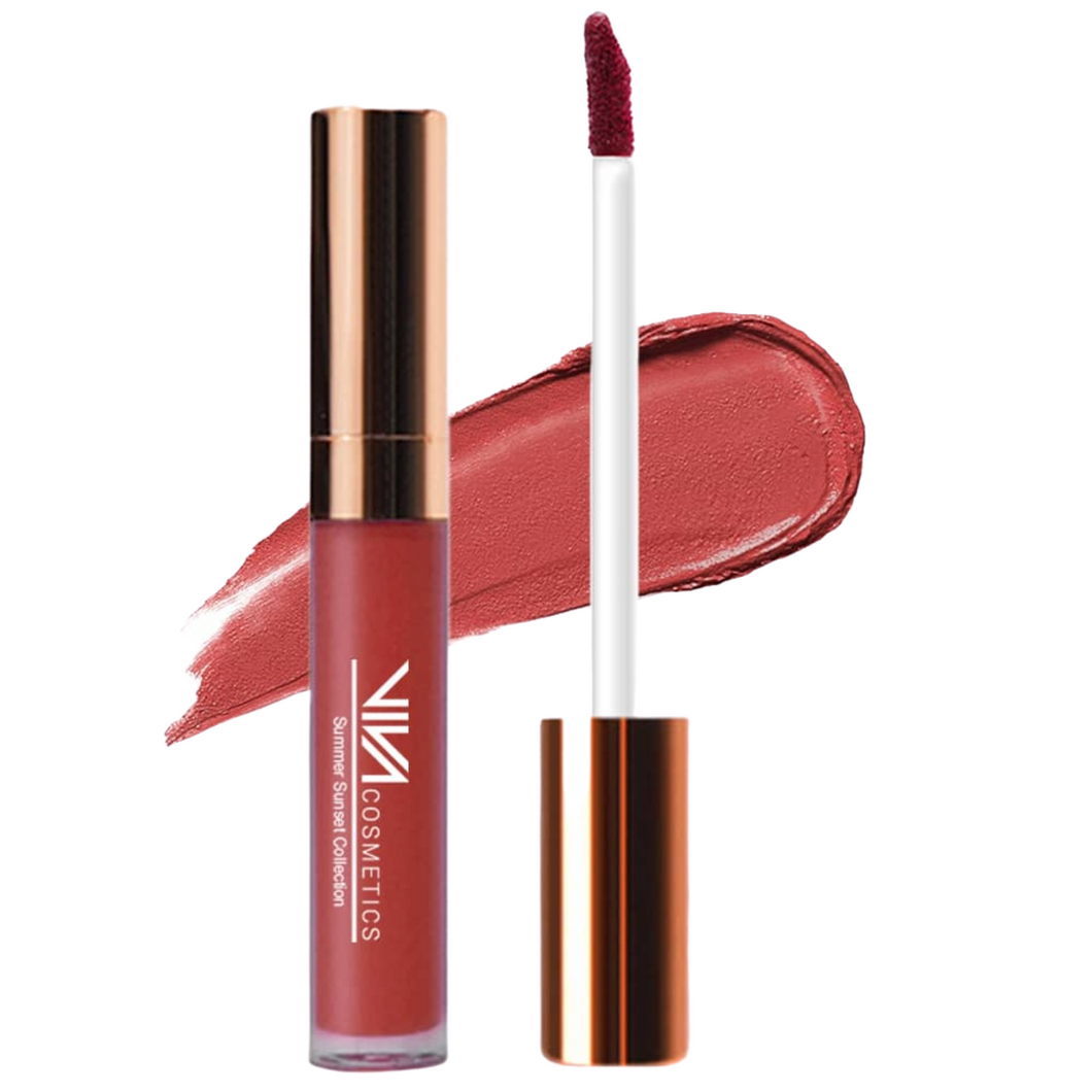 Summer Sunsets Collection Liquid Lipstick - Sepia Notes - Viva Cosmetics