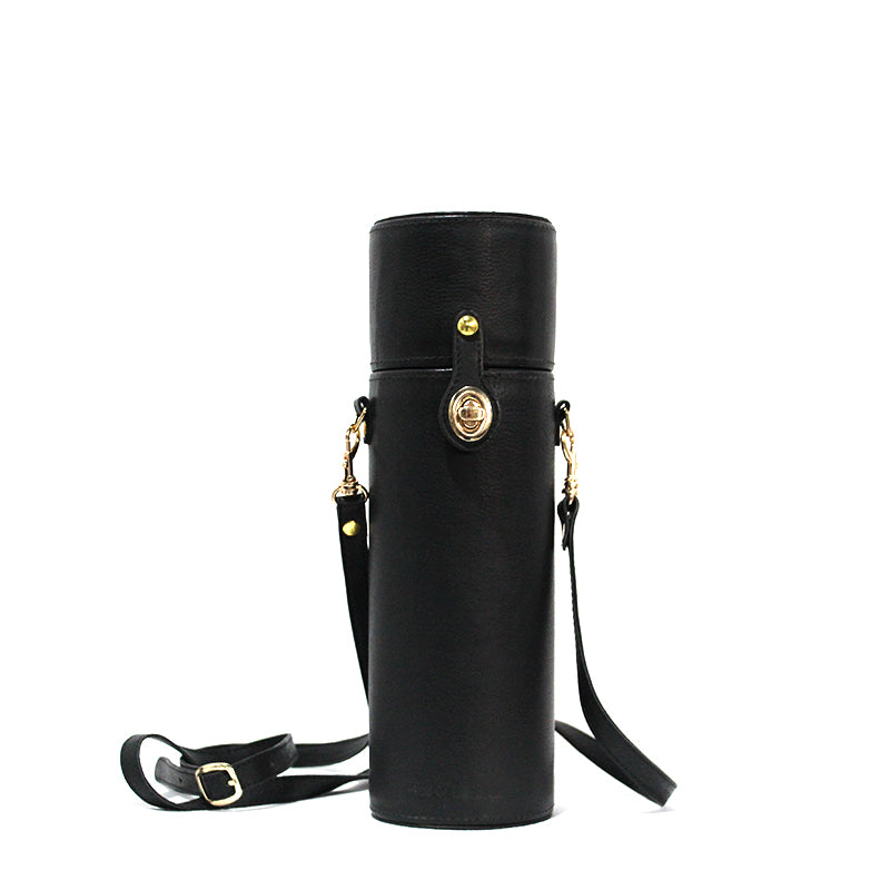 Zoya Leather Bottle Bag
