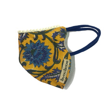 Load image into Gallery viewer, Mustard and Cobalt Jaipur block