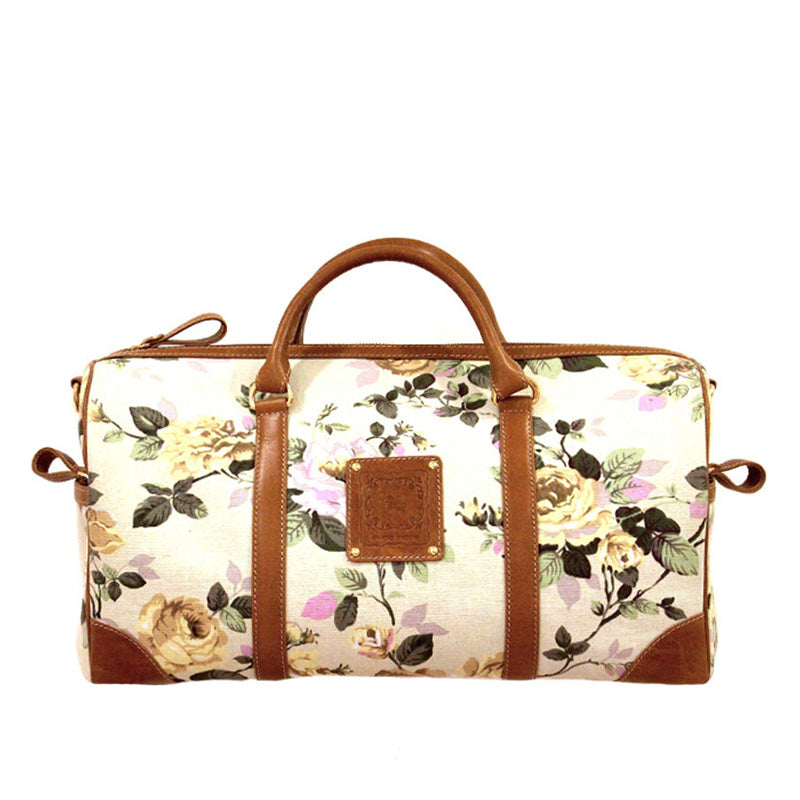 Floral ivory duffle - sample sale