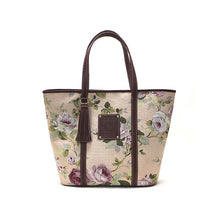 Load image into Gallery viewer, Floral peach tote