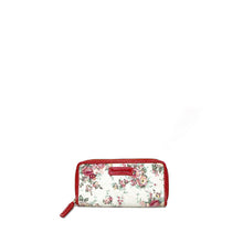 Load image into Gallery viewer, Floral red wallet