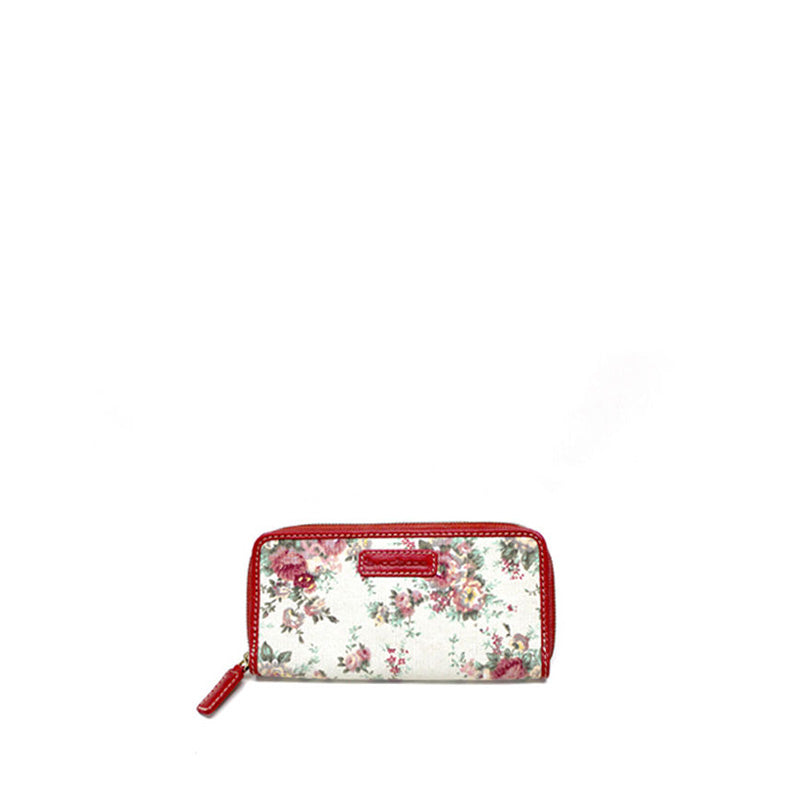 Floral red wallet