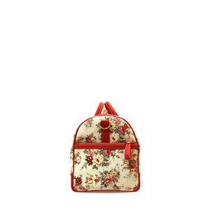 Floral red duffle