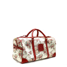 Load image into Gallery viewer, Floral red duffle