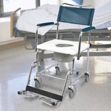 Euro Commode with drop-down armrests, by MedPro Defense®