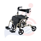 CAL+CARE - 2-in-1 Folding Euro-style Transport Chair/ Rollator