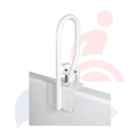 Carex® - White Bathtub Clamp-on Grab Bar/Rail
