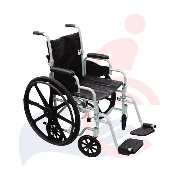 DRIVE™ - Poly-Fly High Strength, Lightweight Wheelchair/Flyweight Transport Chair Combo