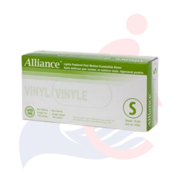 Alliance - Lightly Powdered Vinyl Medical Examination Gloves